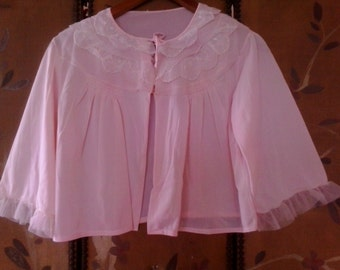 Light pink cropped 70s baby doll top