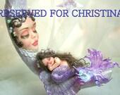 OOAK art doll  mermaid baby motherhood  fantasy polymer clay sculpture fairy RESERVED  IADR    free shipping