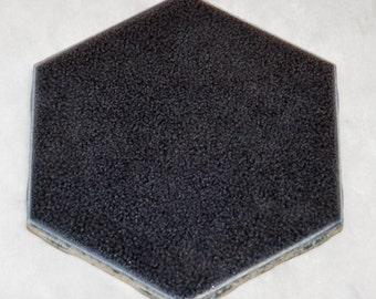 Set of Dark gray octagon shaped tile