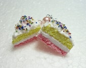 Angel Cake Earrings. Polymer Clay.