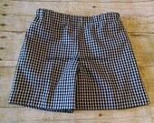 Boys Lined Gingham Shorts Size 12M-6