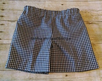 Boys Lined Gingham Shorts Size 12M-18M, 2-6