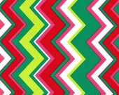 Michael Miller Christmas Fabric by the yard Chevy Chevron in Garland 1 yard