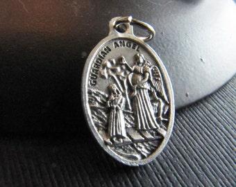 Italian Made Traditional Catholic Guardian Angel Medal