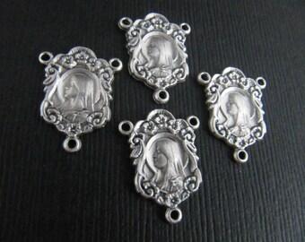 Italian Made Beautiful Ornate Rosary Centers - set of 4