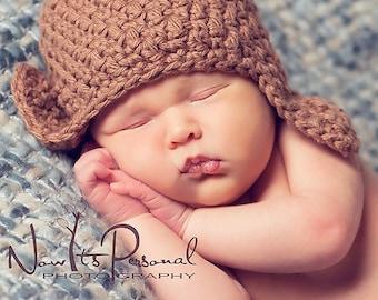 Crochet PATTERN - Crochet Hat Pattern - Earflap Hat Pattern - Baby Crochet Pattern - Crochet Pattern Hat - Photo Prop Pattern - PDF 181