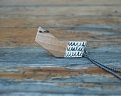 Small Chevron Necklace Geometric Necklace Simple Modern Necklace Made to Order