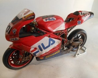 Dumped Ducati race bike with Fila graphics 1/12 scale