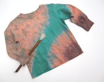 Tie-dyed Toddler Tshirt, Long Sleeve, Size 3T