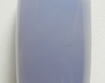 Namibian blue chalcedony designer cab high dome loaf  AAA+ color and clarity 18.62 ct.