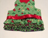 Small Luck is a Ladybug Glitter Harness Dress w/Leash Clip