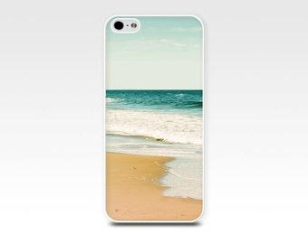 beach scene iphone case 5s iphone 6 case nautical iphone case ocean iphone 4 case ocean waves iphone case 5 emerald gold aqua photography