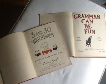 Two Vintage Munro Leaf Childrens' Books