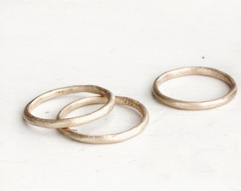 A simple gold band. Rustic love. Sophie.