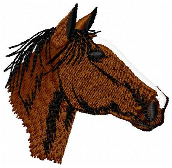 Horse Head Embroidery Design Instant Download