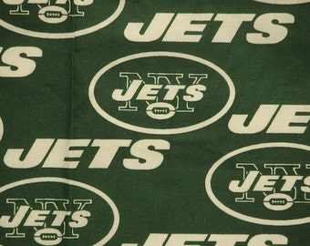 NFL New York Jets 100% Cotton V1 Fabric