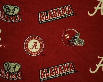 NCAA Alabama Crimson Tide Cotton V2 Fabric by the yard