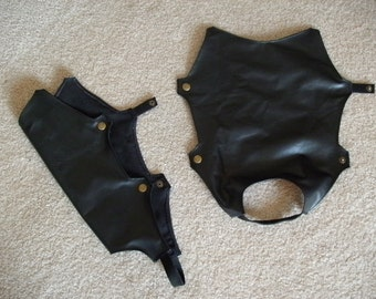 Loki Costume Boot Covers --- Faux leather, Boot covers --- Custom Made