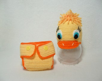 Adorable Baby Boy/Girl Duck Outfit Soft any size ---- READY TO SHIP ( 0 - 3 m.) ----