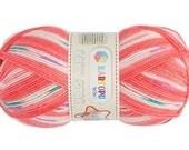 Baby yarn, acrylic yarn, Multicolor, Salmon, soft, 1 Skeins, Each skein: 100 gr