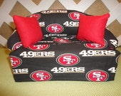 San Francisco 49ers Tissue Box Cover in Sofa Shape Red and Black