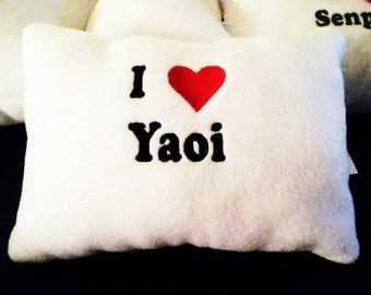 I heart Yaoi pillow