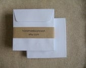 100 Square White Open End Envelopes (size 3 3/4 x 3 3/4 inch or 9.5 x 9.5 cm.)