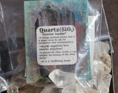 Pocket size quartz crystal points
