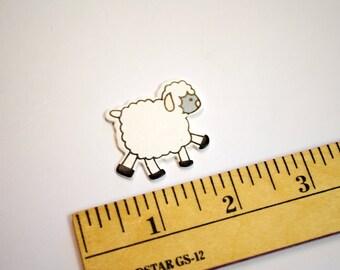 3 Packaged Painted Wood Sheep Pendants