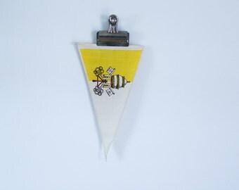 vintage medieval cotton pennant flag