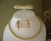52 Gram 14K 10k SAN MARCO Necklace ,Bracelet & Earrings Sets