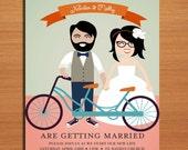 Hipster Wedding Invitation PRINTABLE / DIY