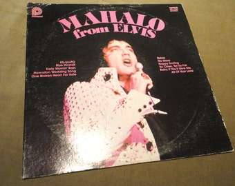 Free Ship ! Vintage 1978 ELVIS Mahalo from Elvis Pickwick Camden ACL-7064 Stereo Record Album 1970's 70's Mad Men Eames Era Rare