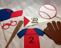 Baseball Photo Booth  Baseball Photo Props  First Birthday Boy Birthday Pick your team Sports Birthday Party