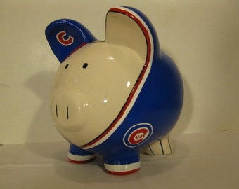 Personalized Piggy Bank,Large,  Basebase uniform, Piggy Bank - MADE TO ORDER