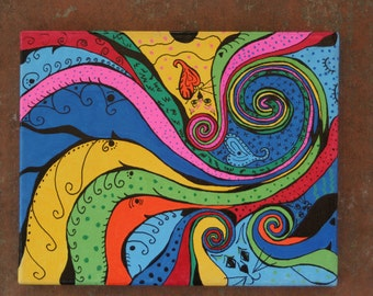 Illusional, Whimsical Wall Art, Painting, Home Decor