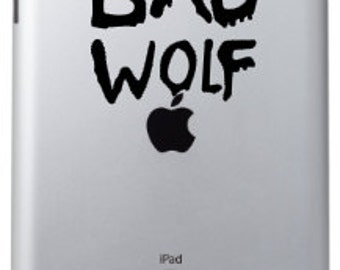 Bad Wolf Doctor Who inspired ipad decal
