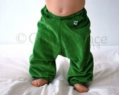 Pants baggy kids apple green childrens clothing corduroy St Patricks Irish toddler comfortable real nappy handmade spring summer trousers