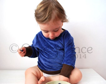 SALE - Baby jumper velour 6-12mths cute toddler brown cuffing sweater cosy garment cardigan top retro cool kid clothng comfortable fun