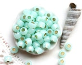 TOHO Seed beads, size 6/0,  Silver-Lined Milky Lt Peridot, N 2118, mint, round, japanese glass - 10g - S310
