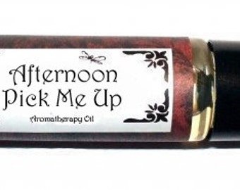 AFTERNOON PICK Me UP - Roll on Premium Essential Oil Blend - 1/3 oz  All Natural Aromatherapy Oil
