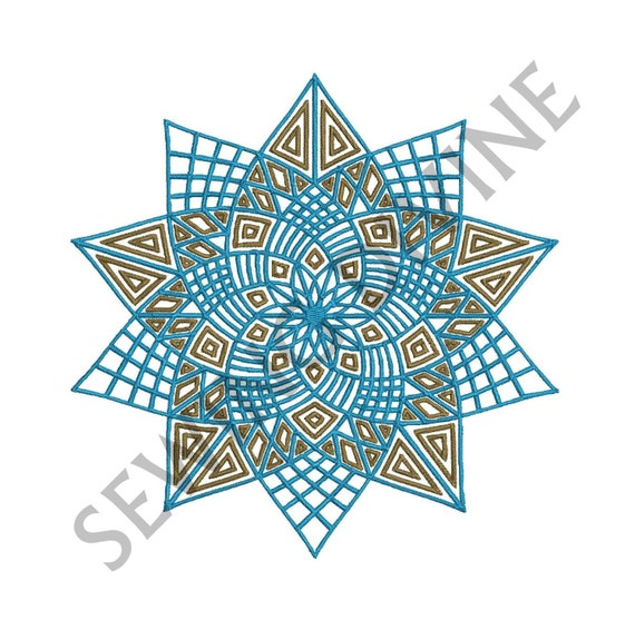 Star Quilt Embroidery Design : QUILT Look STAR Machine EMBROIDERY Design 3 Sizes by ...