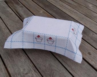 Dollhouse cupcake table cloth or Christmas table cloth