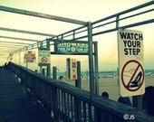 Photo - Cocoa Beach Boardwalk Photograph - Florida, beach, sun, sand, ocean, signs, 8x10, color photography