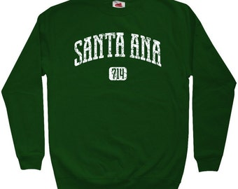 Santa Ana 714 Sweatshirt - Men S M L XL 2x 3x - Crewneck Santa Ana California Shirt - 4 Colors
