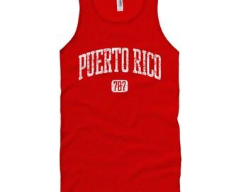 Puerto Rico 787 Tank Top - Unisex - XS S M L XL 2x - Puerto Rico Tank T-shirt - Men and Women - Puerto Rico Tee - 4 Colors