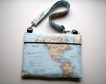 Laptop Bag Strap Blue America Handmade Babimini