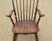 Tell City Chairs Combed Back Rocking Chair