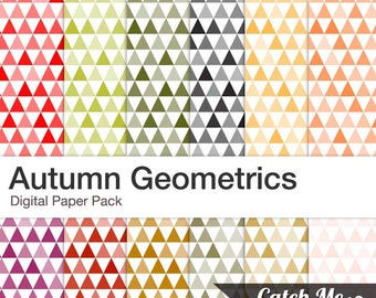 Autumn Geometrics Digital Scrapbooking Papers