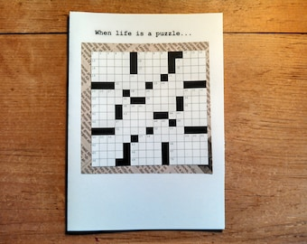 Father's Day Crossword Puzzle Card - Newspaper